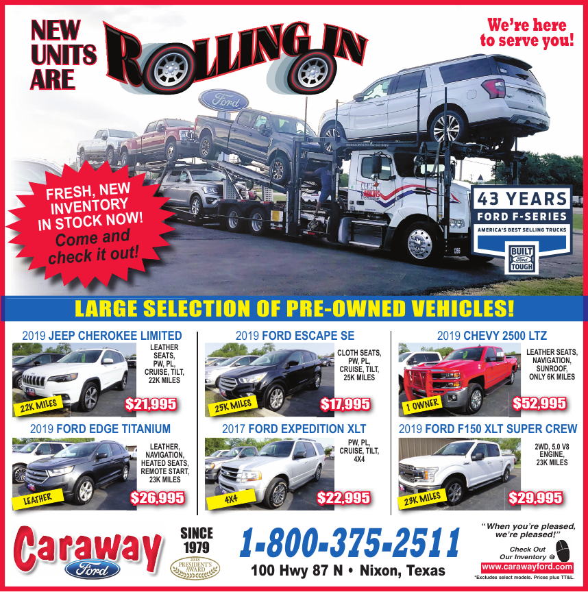caraway ford wilson county news
